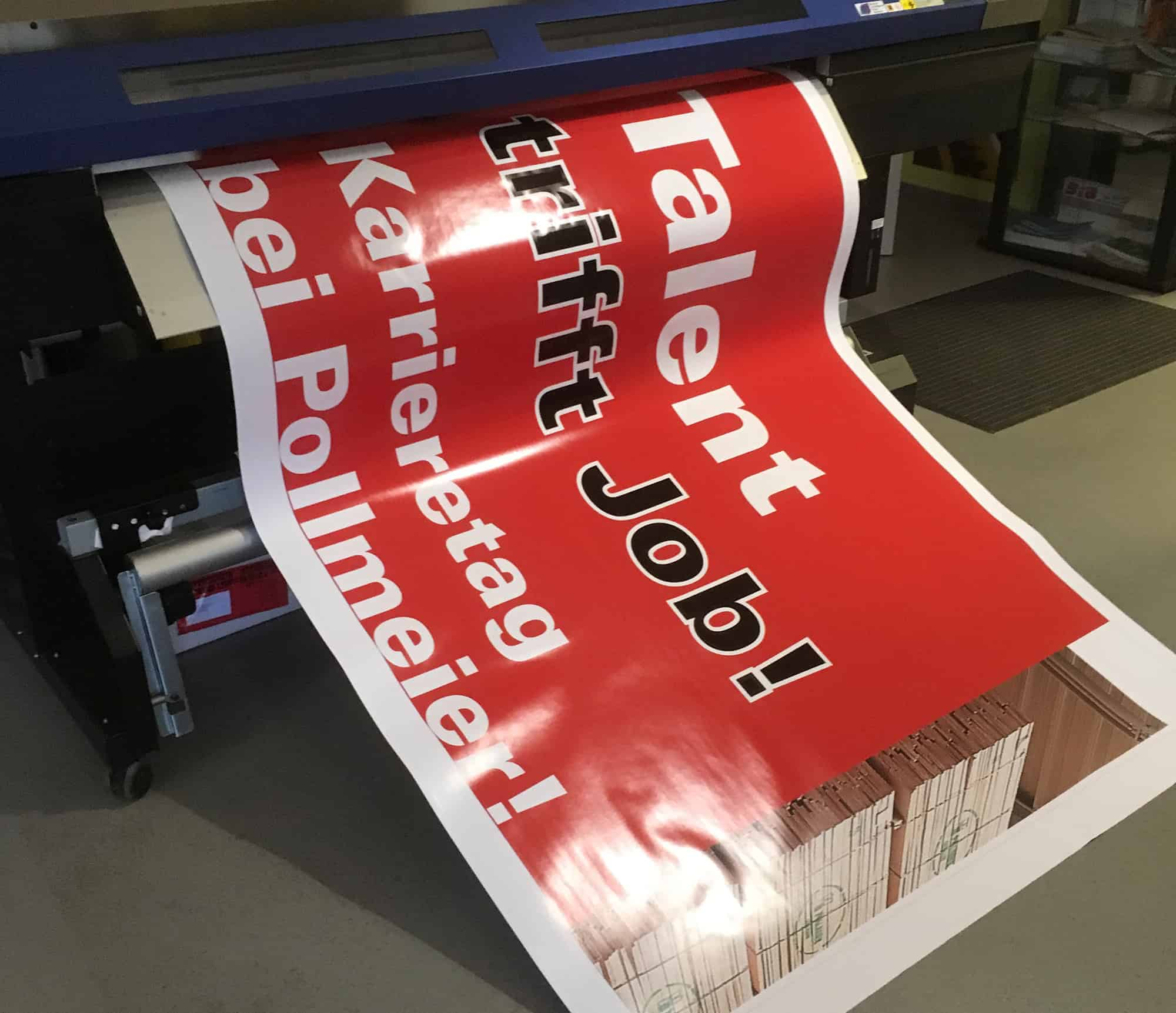 Werbeagentur und Druckerei Frisch Eisenach - Druck Grossflächenplakat Pollmeier