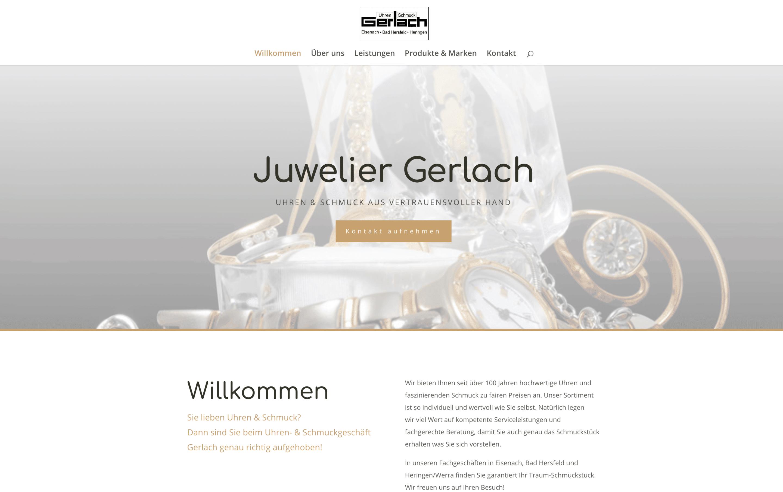 Homepage uhren-gerlach.de erstellt von der Medienagentur Frisch