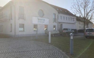"""Fassadenbeschriftung """"WerraEnergie"""""""
